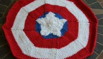 captain america placemat knit