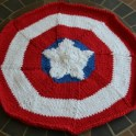 captain america placemat knit
