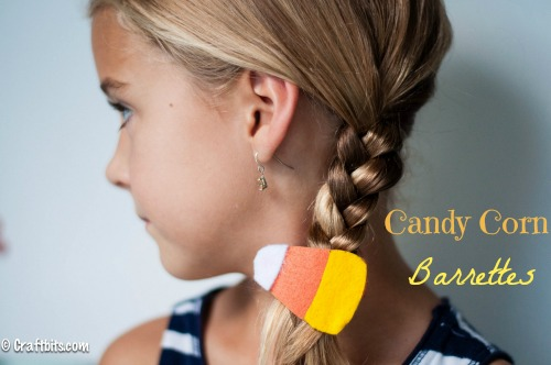 Candy Corn Barrettes