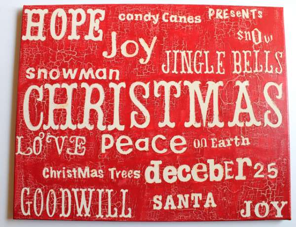 Christmas Crackle Word Art
