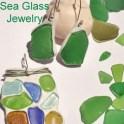 Sea Glass Pendant And Earrings