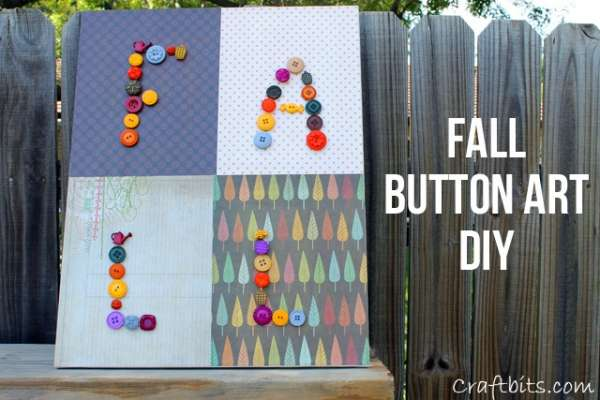 Button Wall Art Project For Fall