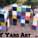 DIY Yard Art: Garden Mosaic Blocks