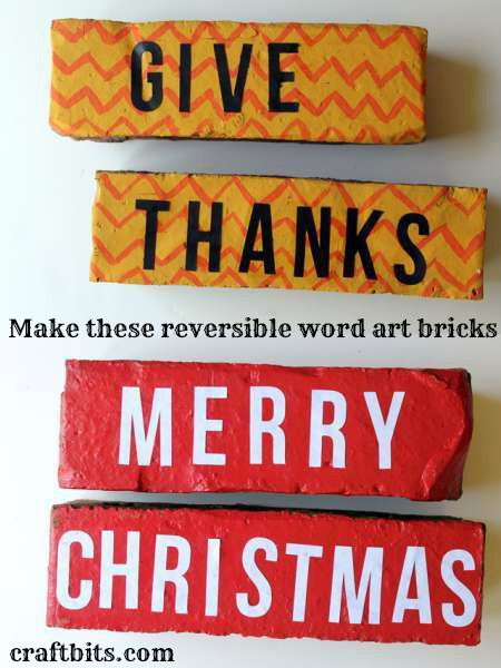 Word Art Bricks: Christmas And Thanksgiving
