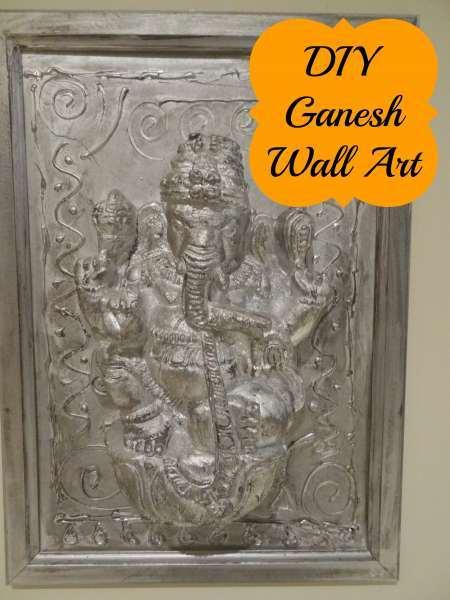Diwali Ganesha Wall Art Home Crafts Craftbits Com