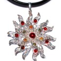 Win a Starburst Baltic Amber Silver Pendant