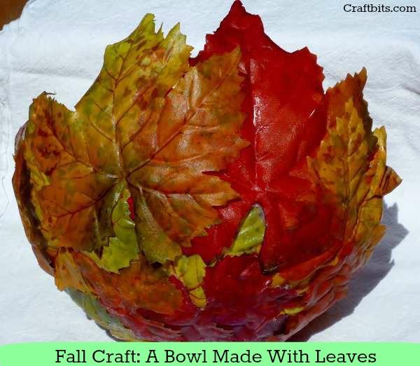 Easy Fall Craft Idea: Leaf Bowl