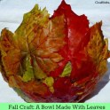 Easy Fall Craft Idea: Leaf Bowl