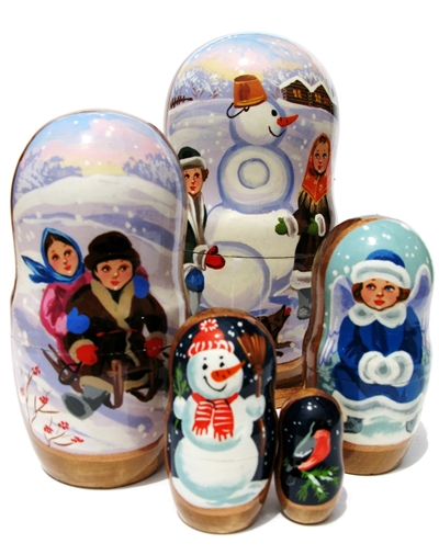 Win a set of Children Russian Nesting Doll