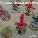 Decoupaged Wooden Christmas Ornaments