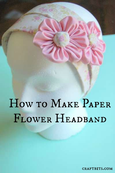 Adhesive Fabric Paper Flowers Hairband