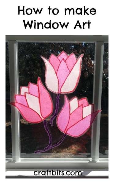Two Lips Tulips: Valentine's Day Window Art