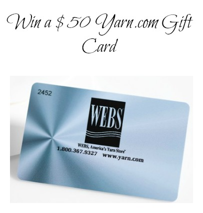 Win a $50 Yarn.com Gift Card