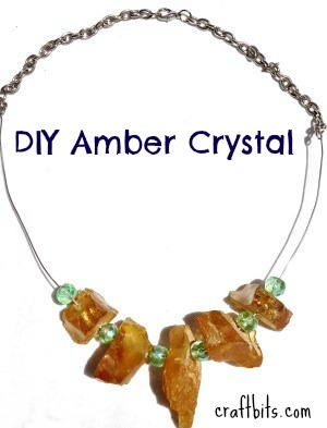 How to make an Amber Gemstone Healing Crystal necklace