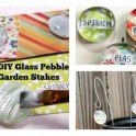 DIY Glass Pebble Plant Stakes