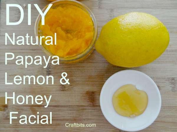 Papaya Honey & Lemon Facial