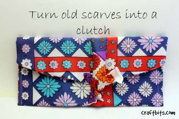 How to Make a Clutch From Old Scarves