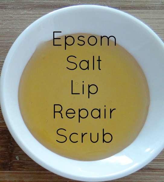 Epsom Salt Lip Repair Scrub