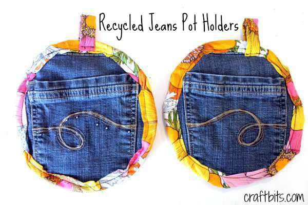 Sewing Pattern: Recycled Jeans Potholders