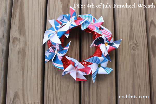 DIY: 4th of July Pinwheel Wreath
