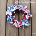 DIY: 4th of July Pinwheel Wreath
