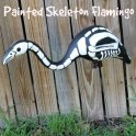 Skeleton Painted Flamingo: Halloween Decoration