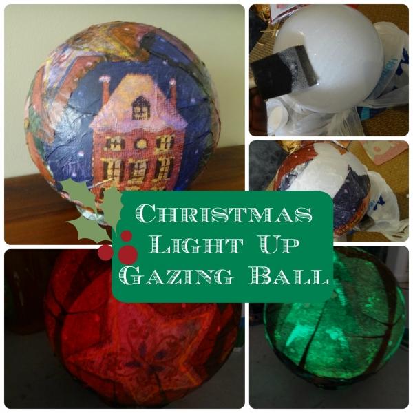 Christmas Light Up Gazing Ball