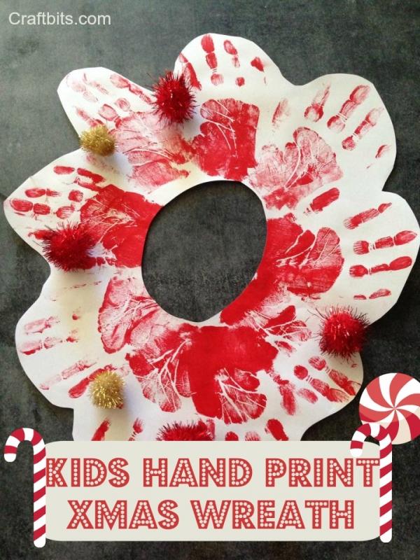 Hand Print Christmas Wreath
