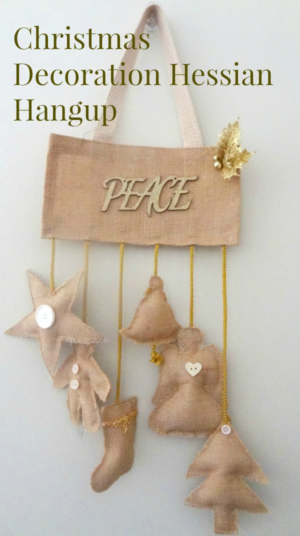Burlap Country Christmas Decoration