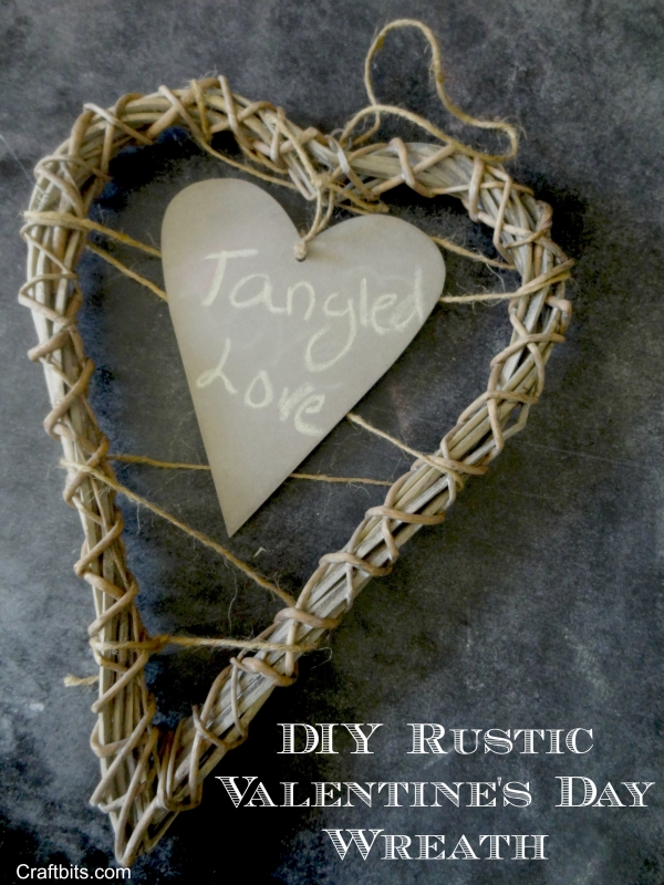 Wreath – Valentine's Day Rustic Love