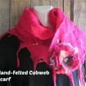 Hand-felted Cobweb Scarf