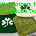 St. Patrick's Day Knit Coasters