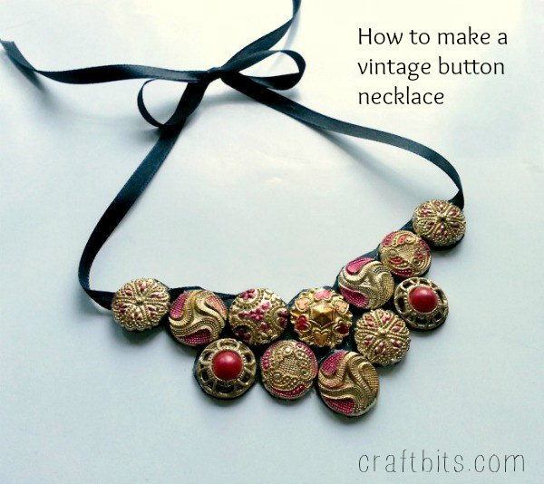 Make Pretty Vintage Button Necklace