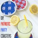 DIY Patriotic Party Coasters