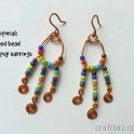 DIY Colorful Seed Bead Gypsy Earrings