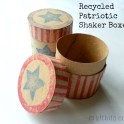 Make 4th of July Inspired Recycled Shaker Box