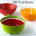 DIY Painted Fruit Bowls