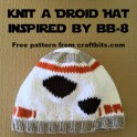 Knit a Starwars Droid Hat Modeled After BB-8
