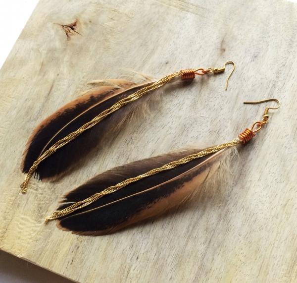 Create Elegant Feather Dangle Ear Hooks