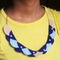 Necklace - Felt Circles Garland