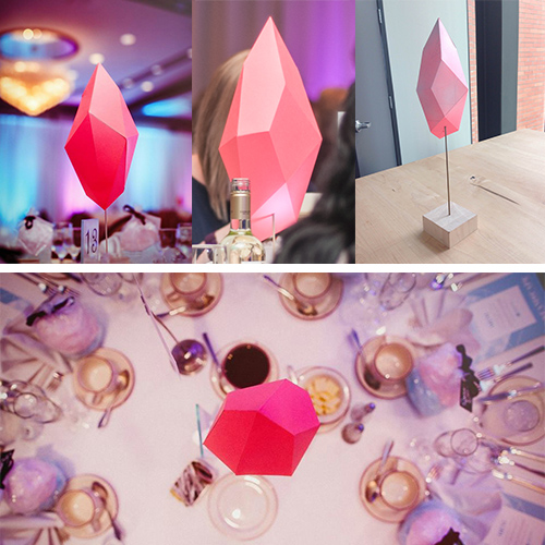 Paper Crystal Table Topper