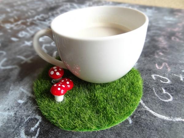 Fairy Garden Coffee Coaster