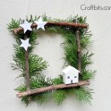 A Square Wreath for Christmas
