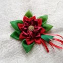 Scrap Fabric Christmas Flower