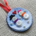 Tree Ornament - Button Snowman
