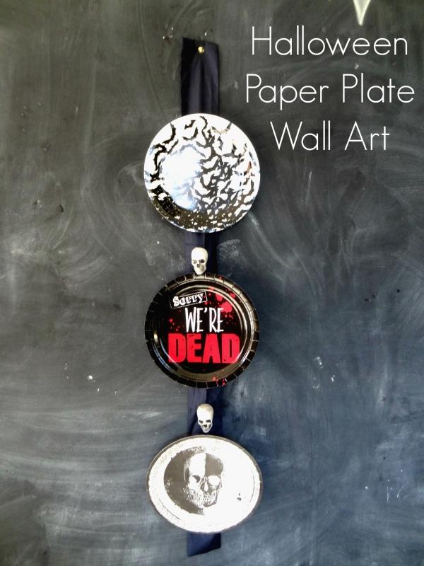 Halloween Paper Plate Wall Art