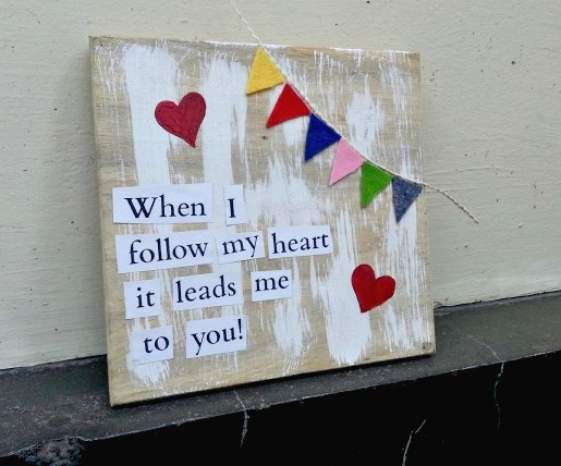 DIY Love Quote Decor