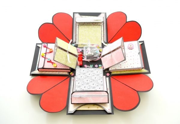 How to make a Valentine's Day Explosion Box Card