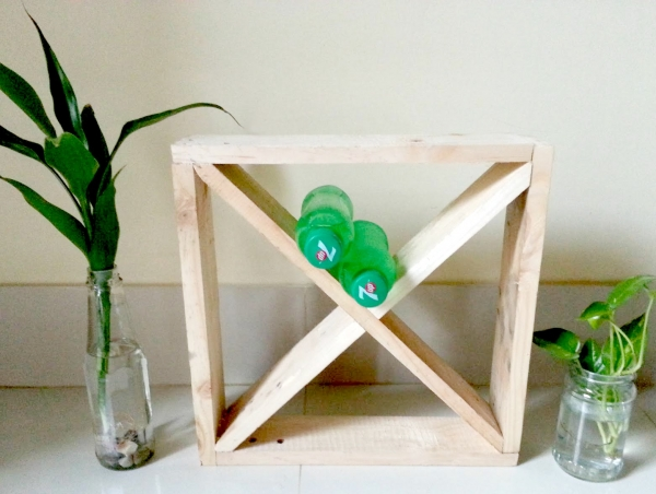 Leftover Pallet to Wine Bottle Stand