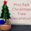 Make a Mini Felt Christmas Tree